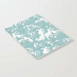 Traditional Hand Drawn Japanese Wave Ink Notebook