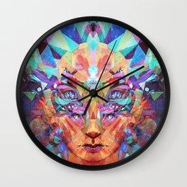 Betrothal of Bastet (Crystal Lioness Goddess) Wall Clock