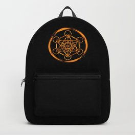 Metatron Cube Gold Backpack