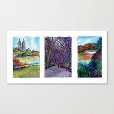Central Park Trio Canvas Print