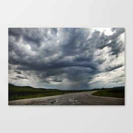Storm Cell in Montana Canvas Print