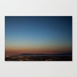 View over Lancaster, Morecambe & the Lake District Canvas Print
