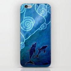 MELUSINA SEA DOLPHINS iPhone Skin