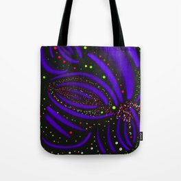Purple Fireworks Display Tote Bag