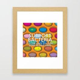 Support Bacteria Framed Art Print