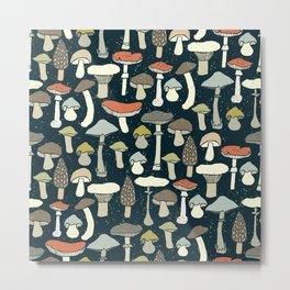 Magic Forest Mushroom Metal Print