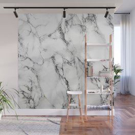 White Marble Texture Wall Mural