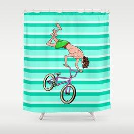BMX Freestyle Shower Curtain