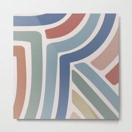 Abstract Stripes II Metal Print