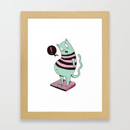 Fat Cat Cartoon Framed Art Print