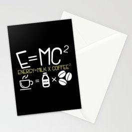 Coffee & Physic: Energy Milk Coffee Equation Stationery Cards