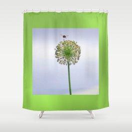 bee nice Shower Curtain