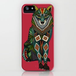 wolf red iPhone Case