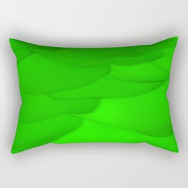 Green wavy surface Rectangular Pillow