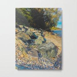 On the rocks beach Metal Print