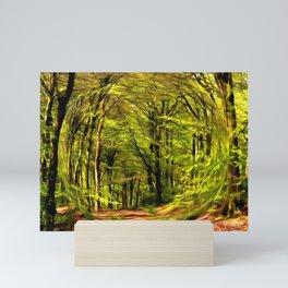 Forest Walk in Spring Mini Art Print