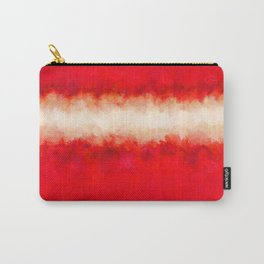 Bright Ruby Red & Cream Abstract Carry-All Pouch