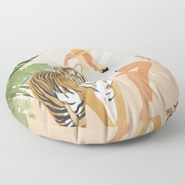 The Lady and the Tiger Floor Pillow