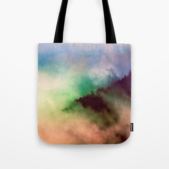 Ethereal Rainbow Clouds Tote Bag
