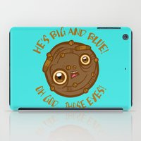 cookie monster iPad Cases featuring Terrified Cookie by Artistic Dyslexia