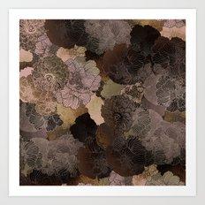 vintage floral shades Art Print
