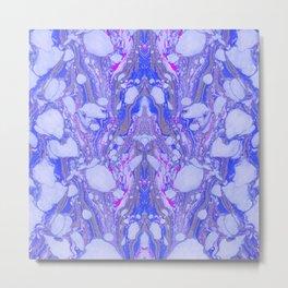 Violet Marbling Metal Print