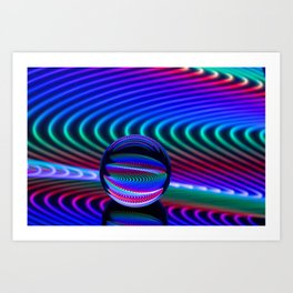 Colours in the glass Art Print