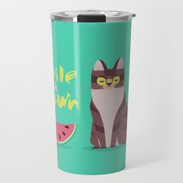 Smile and Frown Travel Mug