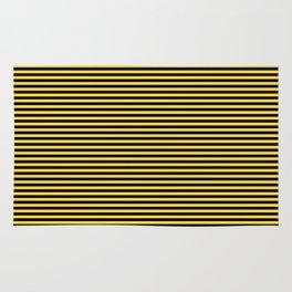 Even Horizontal Stripes, Yellow and Black, XS Rug