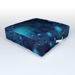 Blue Webs Outdoor Floor Cushion