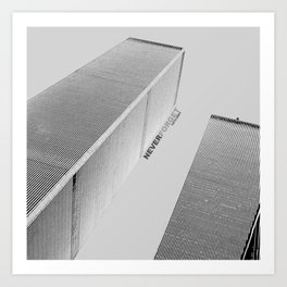 September 11 Tribute - Never Forget - World Trade Center Art Print