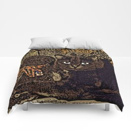 Cats and Bears Comforters