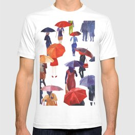 People with umbrellas T-shirt