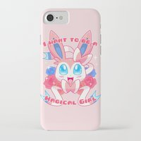 magical girl iPhone & iPod Cases featuring Magical Girl Sylveon by Anjila