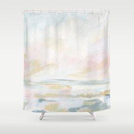 Golden Hour - Pastel Seascape Shower Curtain