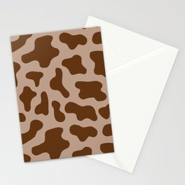 Chocolate Milk Cow Print Stationery Cards