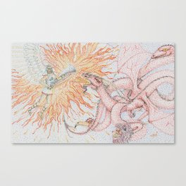 Arch Angel and the Dragon Canvas Print