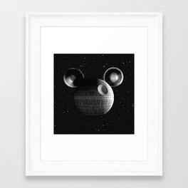 That's no moon... Disney Death Star Framed Art Print