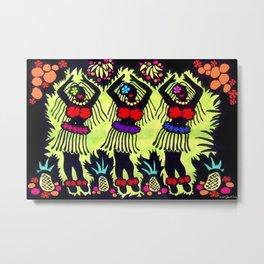 Hula Dancers Metal Print