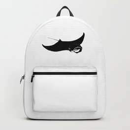Black and White Manta Ray Backpack