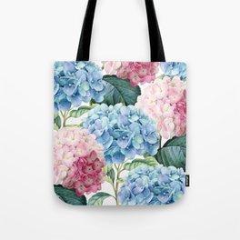 Pink Blue Hydrangea Tote Bag