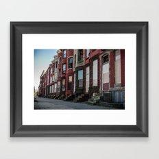 Crippled City Blues Framed Art Print