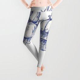 Blue Blossom  Leggings