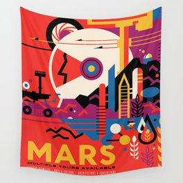 NASA Retro Space Travel Poster #9 Mars Wall Tapestry