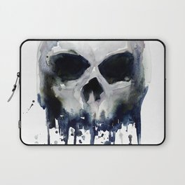 Skull Watercolor Laptop Sleeve