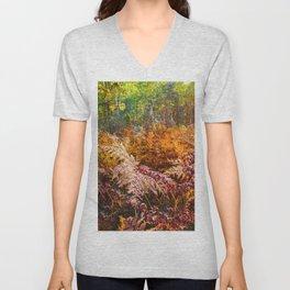 Autumn fern Unisex V-Neck