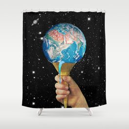 Hypercream Shower Curtain