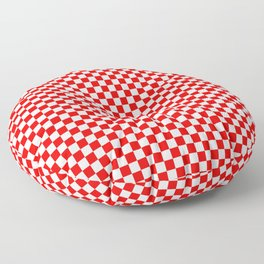 Large Australian Flag Red and White Check Checkerboard Floor Pillow