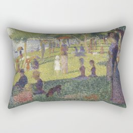 "Study for ""A Sunday on La Grande Jatte"" Rectangular Pillow"