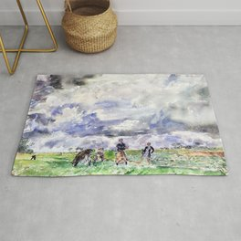 Thomas Hennell - Figures working in a field - Digital Remastered Edition Rug